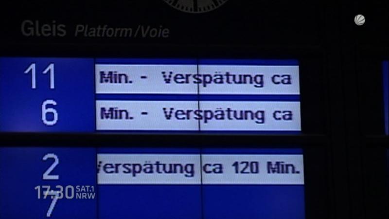Bahnstreik legt NRW lahm (Foto: SAT.1 NRW)