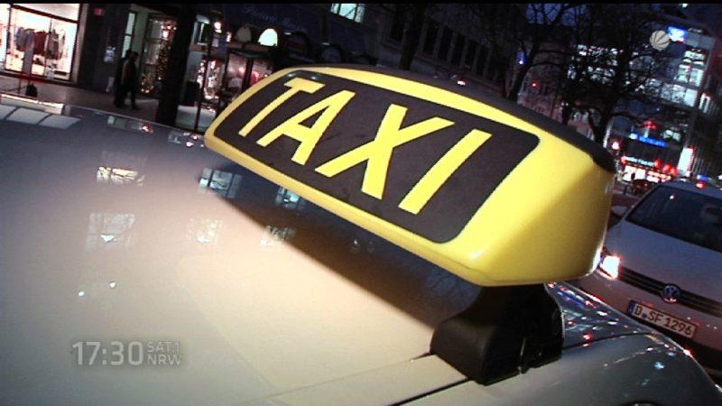 Taxifahrer demonstrieren in Düsseldorf (Foto: SAT.1 NRW)