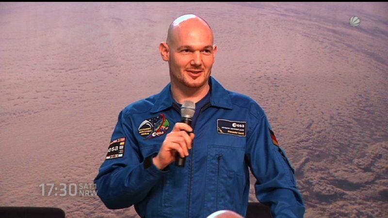 Alexander Gerst startet zur ISS (Foto: SAT.1 NRW)
