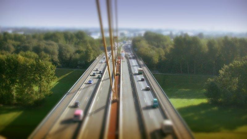 Behelfsbrücke auf A40 (Foto: Straßen.NRW)