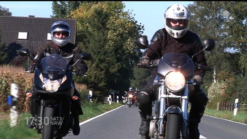 Motorrad-Raser in Velbert (Foto: SAT.1 NRW)
