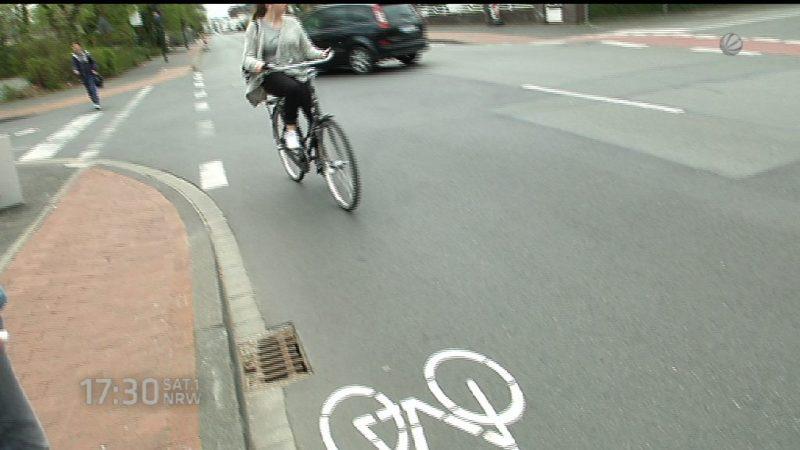 Fahrrad fahren für sichere Radwege (Foto: SAT.1 NRW)