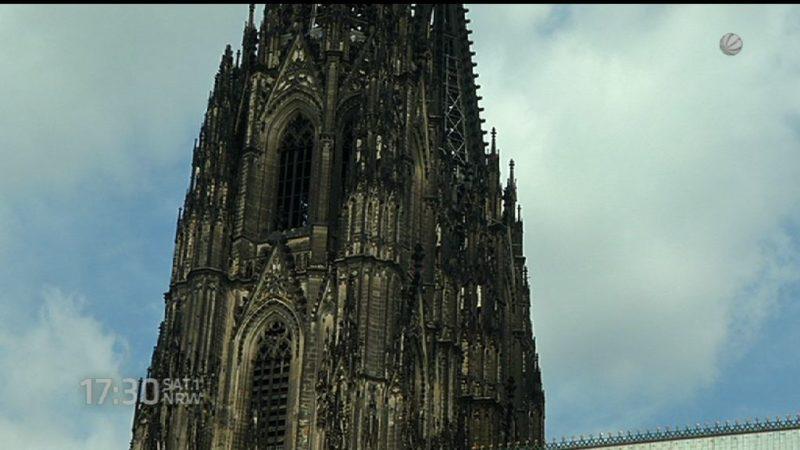 Kölner Dom ohne Baugerüst (Foto: SAT.1 NRW)