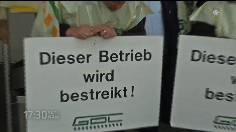 Lokführer streiken wieder (Foto: SAT.1 NRW)