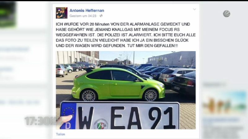 Facebook-Fahndung erfolgreich (Foto: SAT.1 NRW)