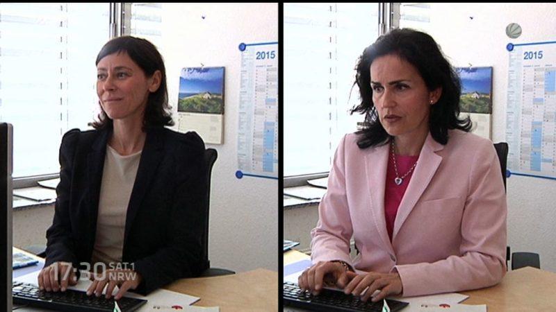 Zwei Mütter teilen sich eine Stelle - ein Zukunftskonzept? (Foto: SAT.1 NRW)