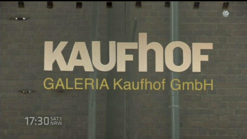 Kaufhof-Mitarbeiter streiken (Foto: SAT.1 NRW)