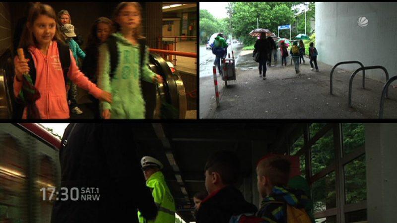 Flüchtlingskinder lernen deutschen Straßenverkehr (Foto: SAT.1 NRW)