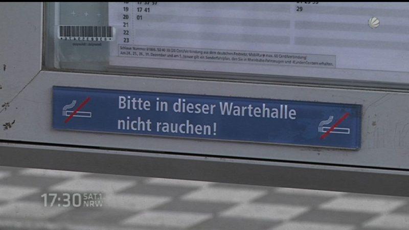 Rauchverbot an Haltestellen? (Foto: SAT.1 NRW)