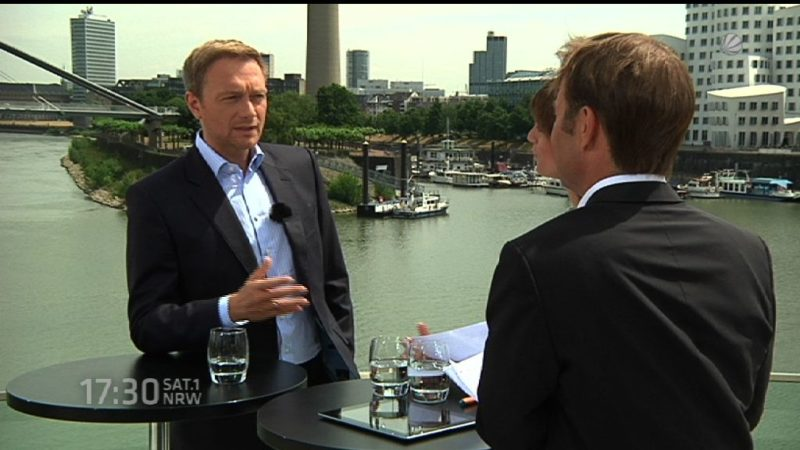 Christian Lindner im Sommerinterview  - Teil I (Foto: SAT.1 NRW)