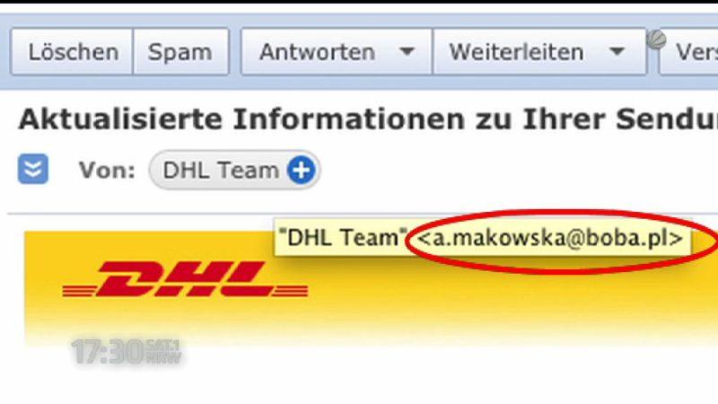 Gefährliche Mails (Foto: SAT.1 NRW)