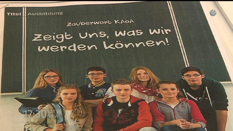 Mit Plan aus der Schule (Foto: SAT.1 NRW)