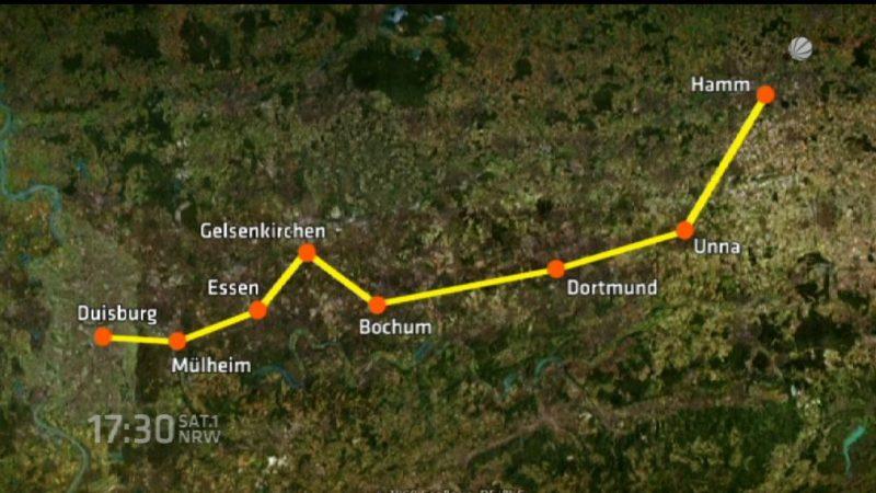 Entscheidung über Radschnellweg (Foto: SAT.1 NRW)
