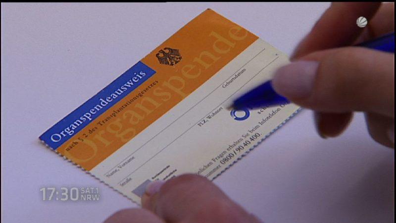 Bundestag beschließt Organspende-Reform (Foto: SAT.1 NRW)