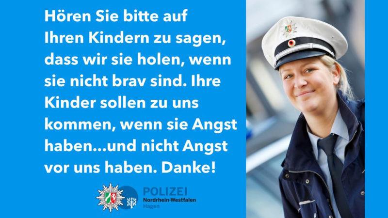 Hagens Polizei-Warnung wird Hit im Netz (Foto: Polizei Hagen)