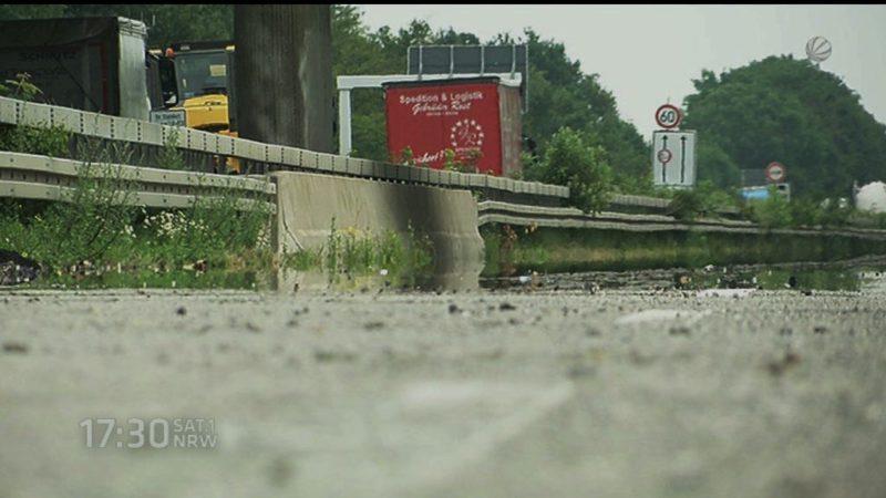 Warum auf vielen Autobahnbaustellen nichts läuft (Foto: SAT.1 NRW)