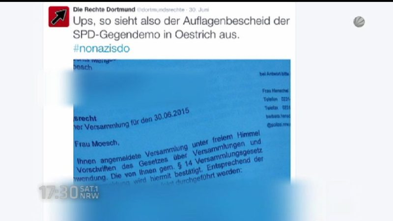 Politikerin wird von Rechten bedroht (Foto: SAT.1 NRW)