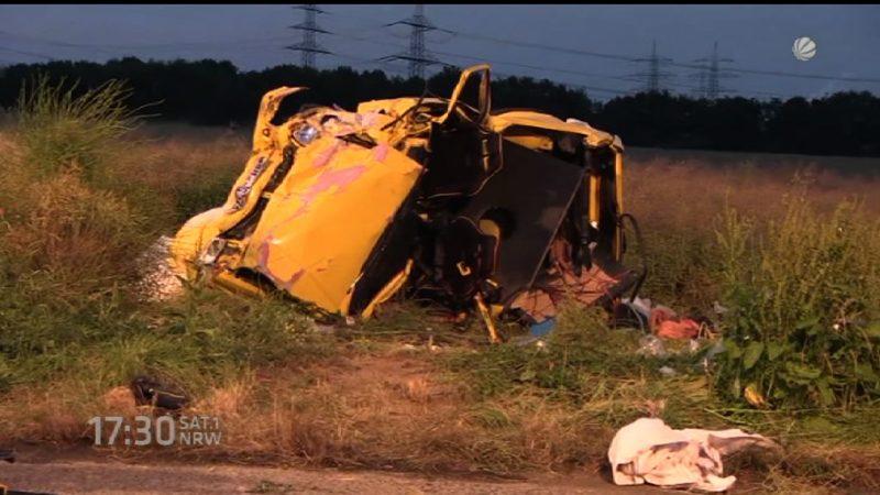Unfallflucht - einfach abgehauen nach Todescrash (Foto: SAT.1 NRW)