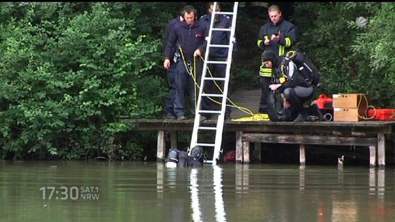 Augenzeugin hat jemandem im Teich untergehen sehen (Foto: SAT.1 NRW)