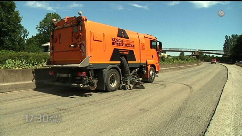 Die Bauarbeiten auf der A40 haben begonnen (Foto: SAT.1 NRW)