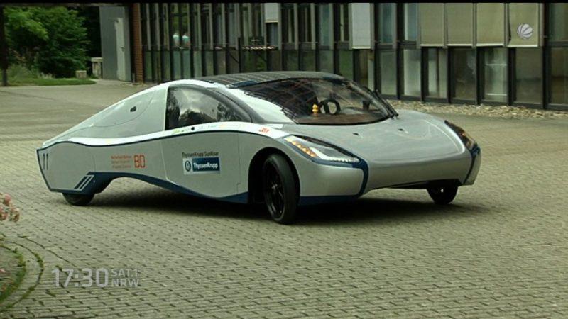 Neuer Solarrenner heute in Bochum vorgestellt (Foto: SAT.1 NRW)