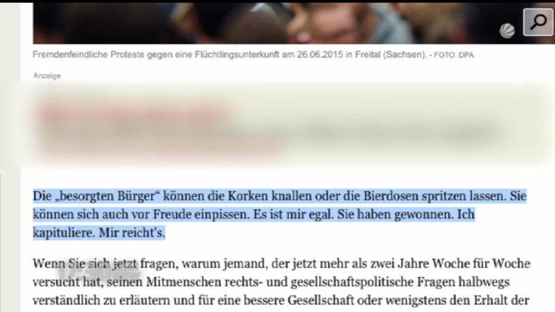 Rechte Bedrohung - Blogger gibt auf (Foto: SAT.1 NRW)