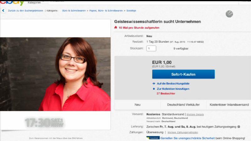 Bewerbung über Ebay (Foto: SAT.1 NRW)