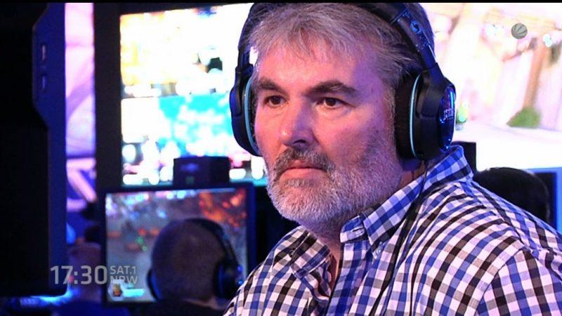 Silver Gamer auf der Gamescom (Foto: SAT.1 NRW)