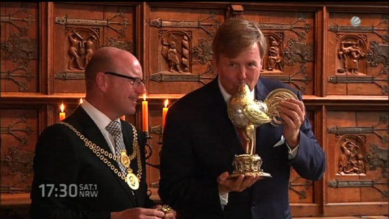 Königlicher Besuch in Münster (Foto: SAT.1 NRW)