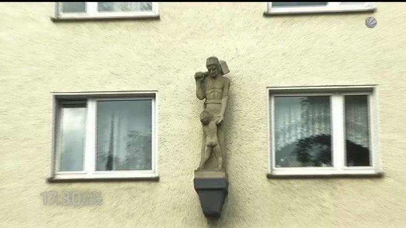 Pädophiles Denkmal in Düsseldorf? (Foto: SAT.1 NRW)