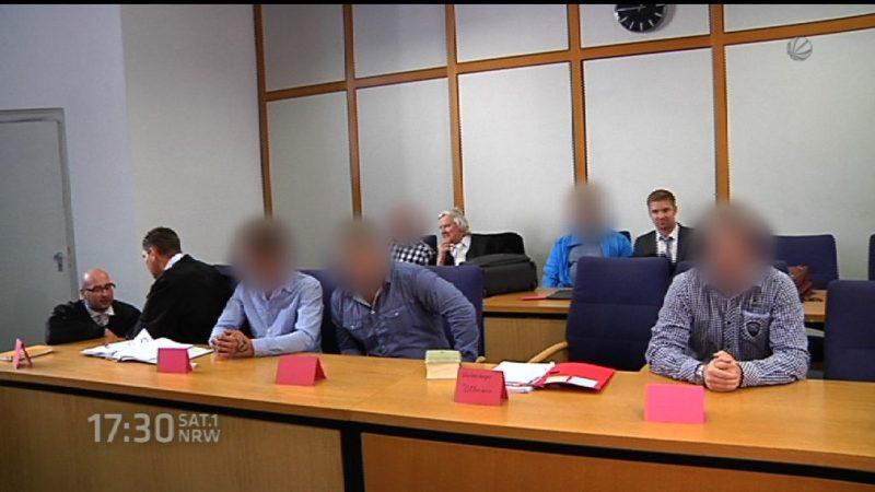 Wachleute aus Flüchtlingsheim vor Gericht (Foto: SAT.1 NRW)