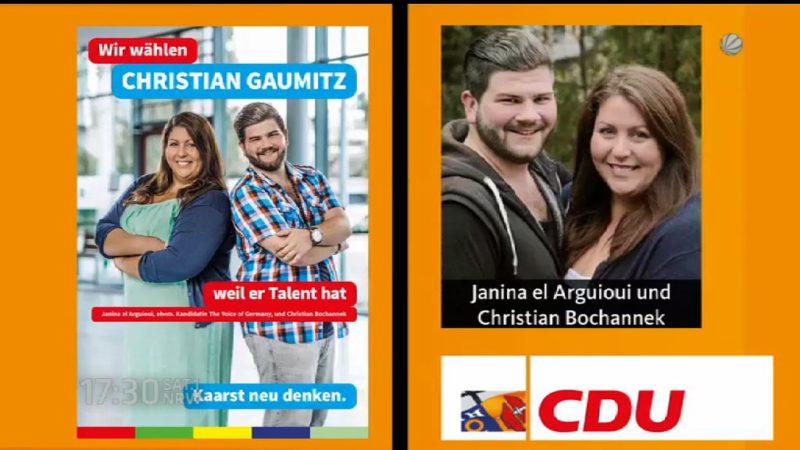 Sängerin macht Werbung für CDU und SPD - wie kann das sein? (Foto: SAT.1 NRW)