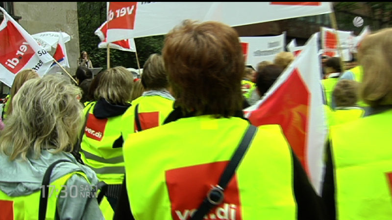 Streik im Einzelhandel (Foto: SAT.1 NRW)
