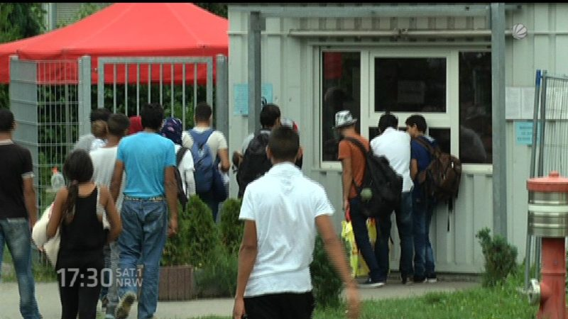 Laschet fordert Sachleistungen für Flüchtlinge (Foto: SAT.1 NRW)