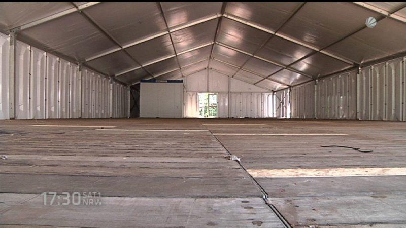 Platz für 300 Flüchtlinge (Foto: SAT.1 NRW)