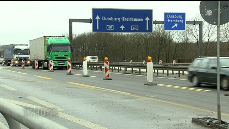 Pläne zum Ausbau von NRW Strassen (Foto: SAT.1 NRW)