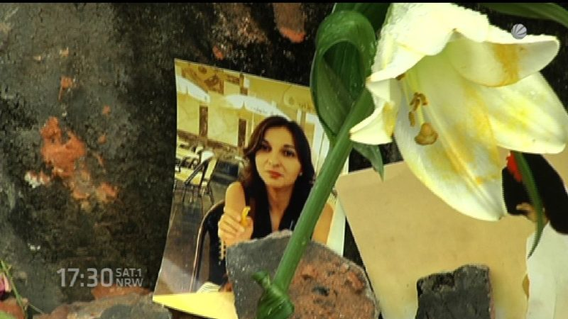 Trauer um überfahrene 27jährige in Essen (Foto: SAT.1 NRW)