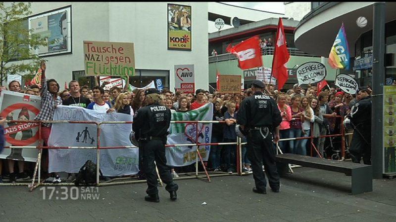 Flüchtlinge willkommen in NRW (Foto: SAT.1 NRW)