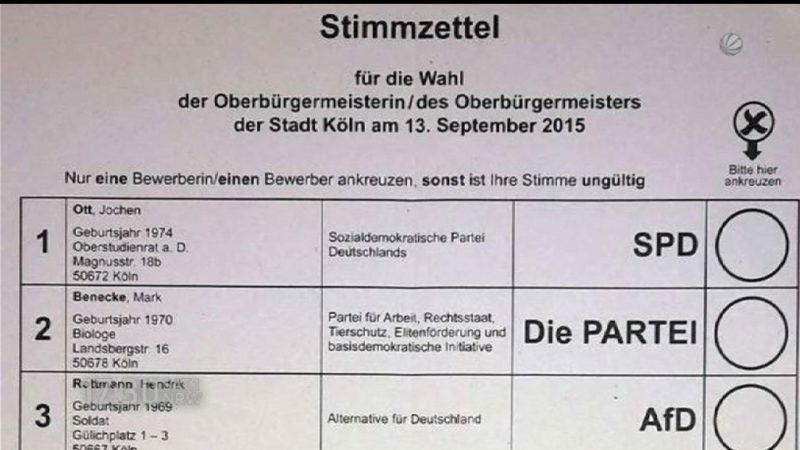 Wahlpanne in Köln (Foto: SAT.1 NRW)