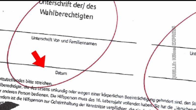 Briefwahlpanne in Köln (Foto: SAT.1 NRW)