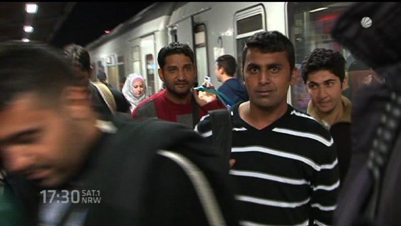 Weitere Flüchtlingszüge in Dortmund angekommen (Foto: SAT.1 NRW)