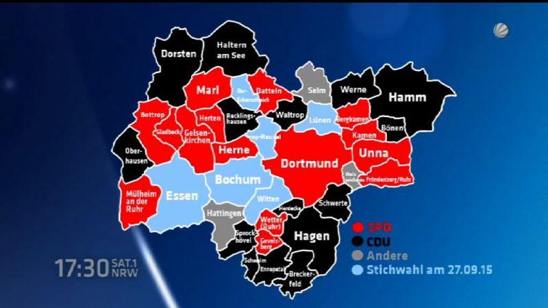 So hat NRW gewählt (Foto: SAT.1 NRW)