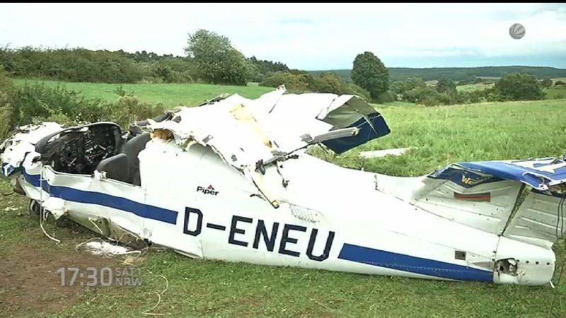 Flugzeugabsturz: Suche nach Pilot (Foto: SAT.1 NRW)