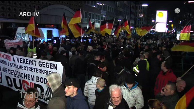 DÜGIDA demonstriert wieder (Foto: SAT.1 NRW)