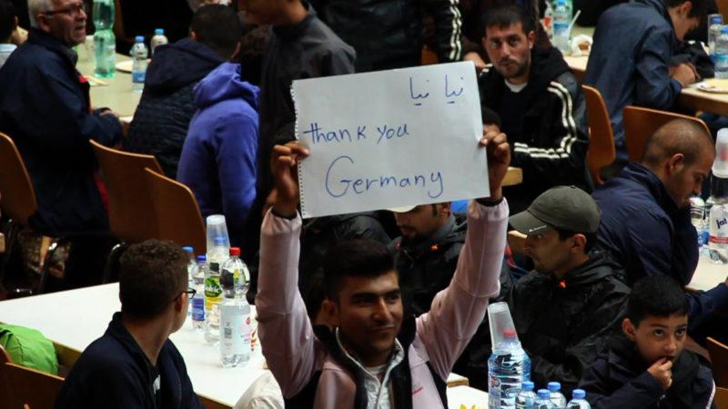 Flüchtlinge Willkommen (Foto: SAT.1 NRW)