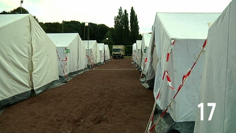Extra-Heime für Balkan-Flüchtlinge (Foto: SAT.1 NRW)