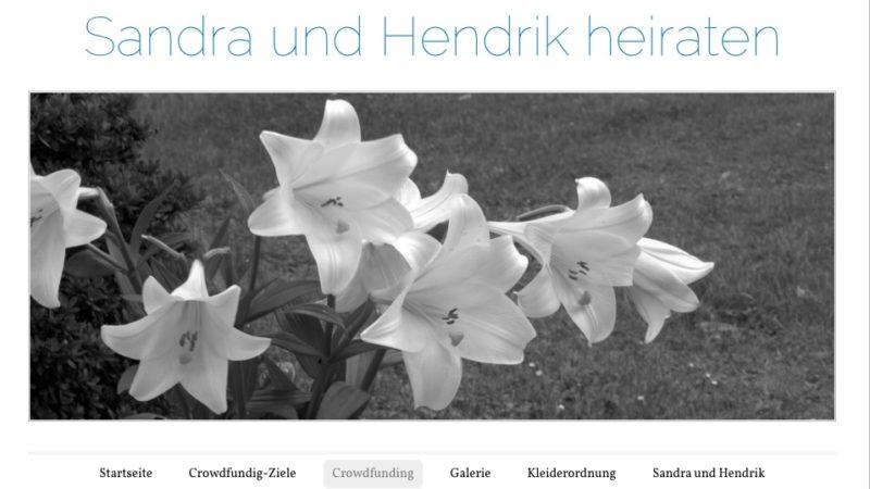 Hochzeit per Crowdfunding (Foto: SAT.1 NRW)