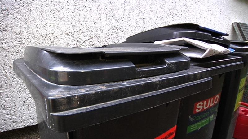 Ärger um Mülltonnen (Foto: Symbolbild SAT.1 NRW)