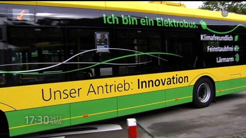 Neue Elektrobusse in Oberhausen (Foto: SAT.1 NRW)