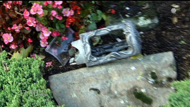 140 Gräber in Essen verwüstet (Foto: SAT.1 NRW)